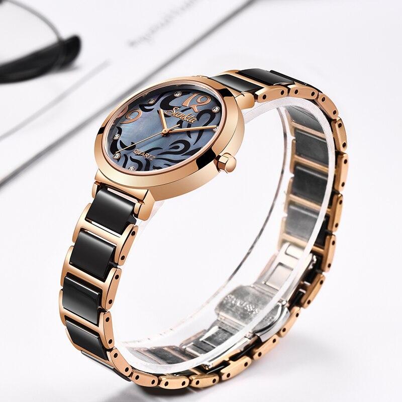 Image 3 - SUNKTA 2019 Hot Brand Women Watches Women reloj mujer Luxury Dress Watch Ladies Quartz Rose Gold Wrist Watch Montre Femme Gift-in Women's Watches from Watches