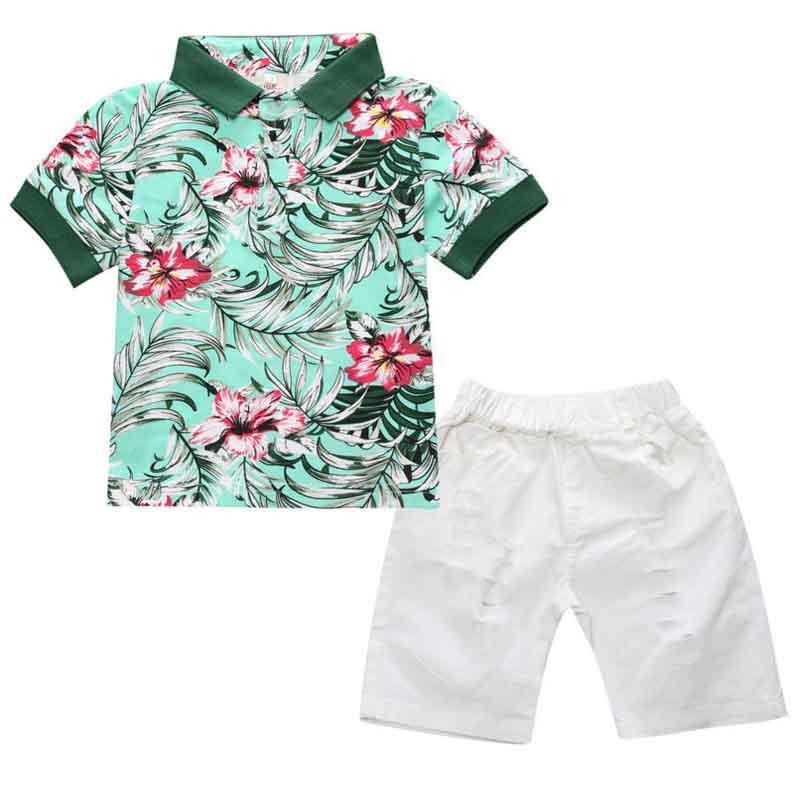 Los niños ropa de niño fijan, kids Boy manga corta de color ...