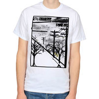 WIRES TREES ABSTRACT GOTHIC STREET ART SCENE DARK FOREST PUNK T SHIRT TEE T Shirts Casual