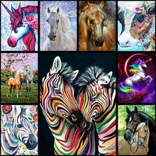 5d diy full diamond painting cross stitch animal horse 3D diamond embroidery artwork home decor kit