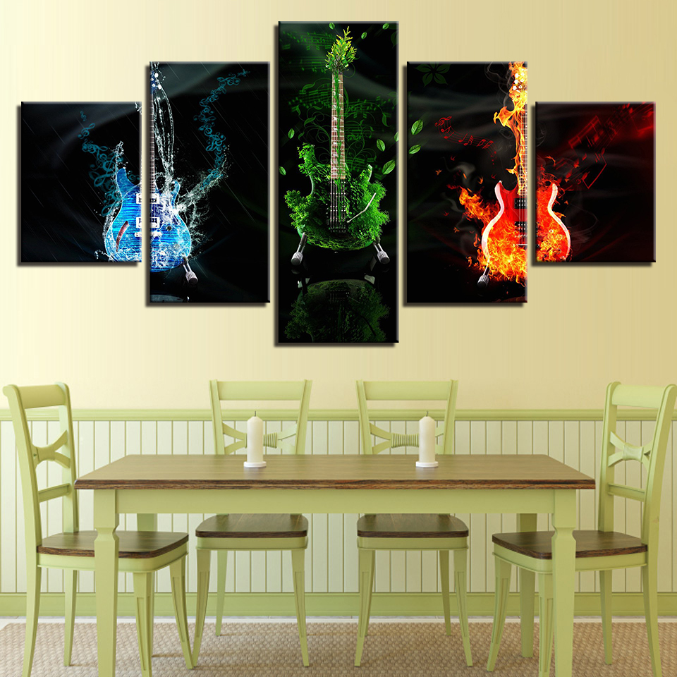 Modern Canvas Prints Pictures Home Decor For Living Room 5 Pieces ...