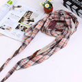 New Fashion Style Plaid Flower printed Appligue Women Scarves Spring Autumn Women Triangle Shape Of The Pashmina Scarf