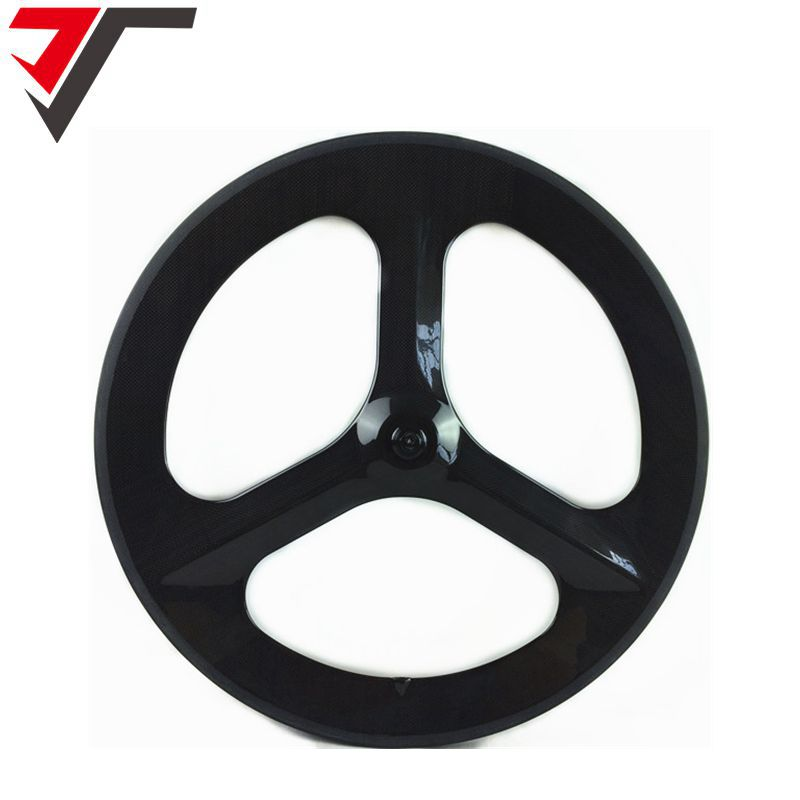 TRIPS New carbon 3 spoke wheel 70mm Depth 700C clincher Tri Spoke Wheel carbon road track