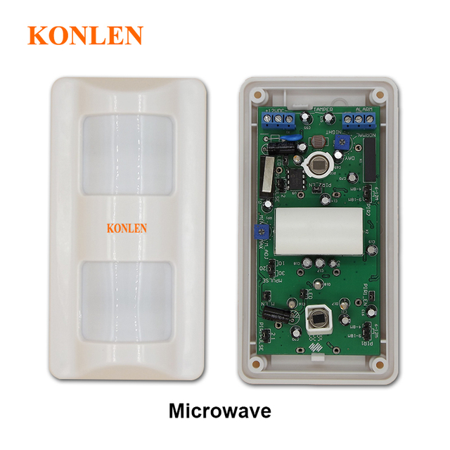 good quality microwave wired  tri-tech outdoor motion sensor alarm pir  with 30kgs pet immunity