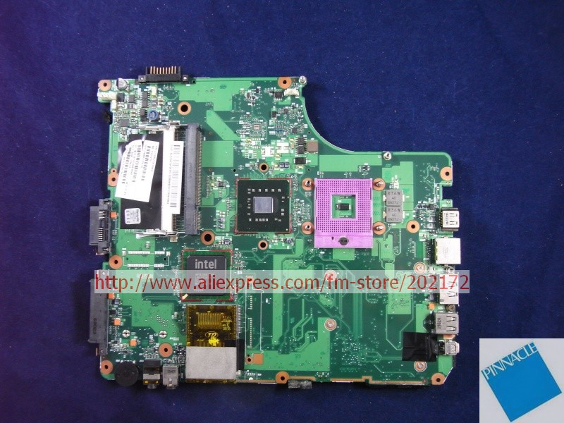 V000125830 Motherboard for Toshiba Satellite A300 A305 6050A2169901 nokotion sps v000198120 for toshiba satellite a500 a505 motherboard intel gm45 ddr2 6050a2323101 mb a01