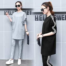 Spring the new womens clothing han edition fashion leisure sport suits female loose fleece spring and autumn period