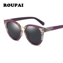 3a1cf1e70b ROUPAI Sol de lujo de marca famosa diseño 2018 hombres vidrio de Sol de  espejo polarizado lente Vintage Retro Gunes Gozlugu