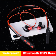 HiFi Bluetooth Neckband Earphone Wireless Headphones Sports Earbud Stereo Bluetooth Headset with Mic for xiaomi all phone foldable wireless headphone hifi stereo bluetooth earphone wireless headset sports attitude headphones with mic for phone music