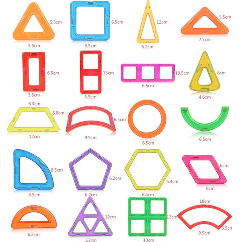 1pcs peças de construção Magnético blocos de construção DIY brinquedos para crianças Designer de brinquedos magnéticos Ímã brinquedos modelo de construção