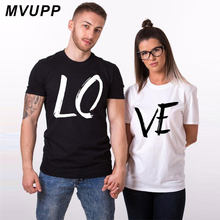 b56ff9bdb90 Love printed couple t shirt for lovers husband and wife clothes funny summer  tops tee femme men women ulzzang harajuku dress