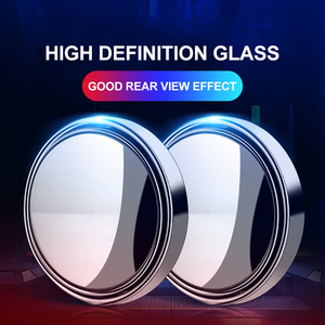 Car Rear View Blind Spot Glass Convex Wide Angle Lens Parking Mirror Reverse Assist Spot Mirror HD 360 Degree Auto Accessories(China)