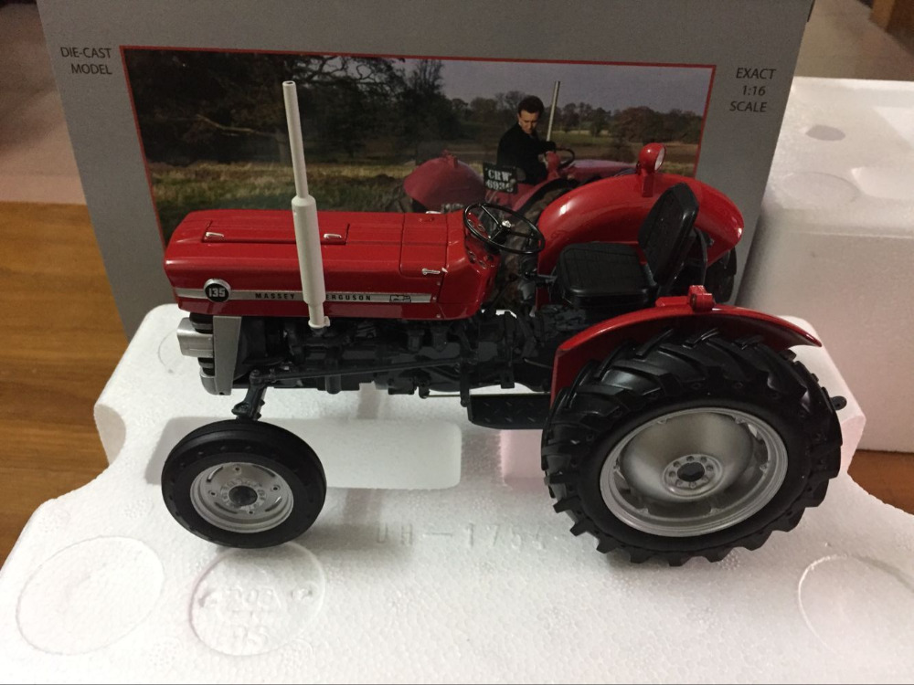 New Universal Hobbies AGCO Massey Ferguson 135 Without Cabin Tractor 1/16 UH2698 loral agco parts books original catalog 2017