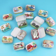 32Pc Cute Garden Cat Small Metal Storage Box Mini Outdoor Tr