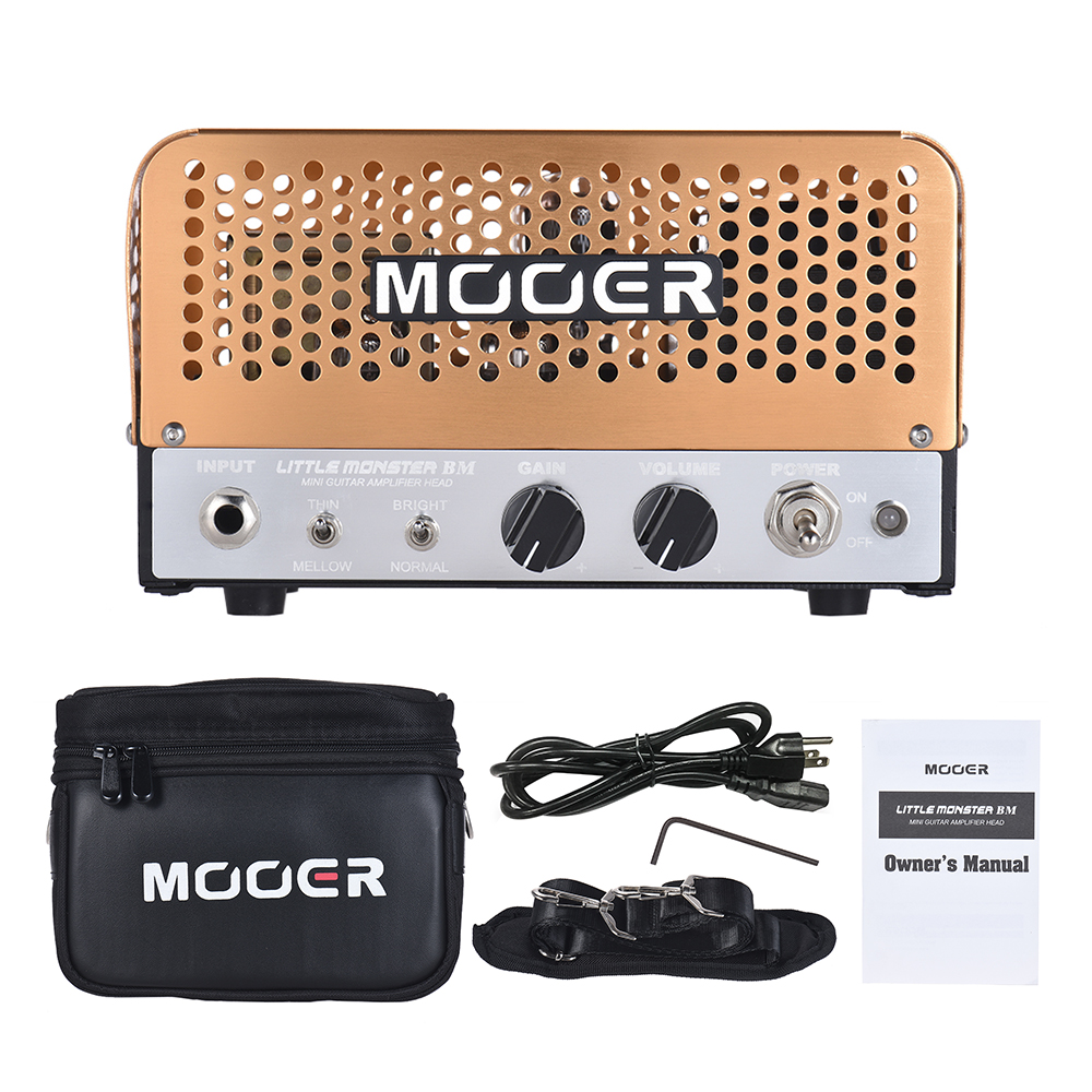 MOOER LITTLE MONSTER BM Guitar Amplifier Mini 5W All-tube Guitar Amp  Amplifier Head with Carry Bag Guitar Parts & Accessories