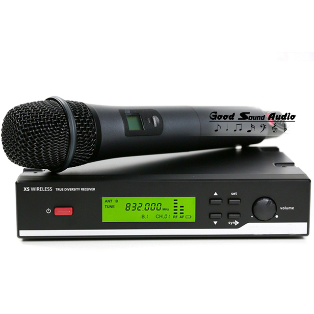 Free Shipping  2.4G True Diversity Receiver XSW35 Professional UHF Wireless Microphone System Vocal Set XSW 35 Cordless Mic Mike