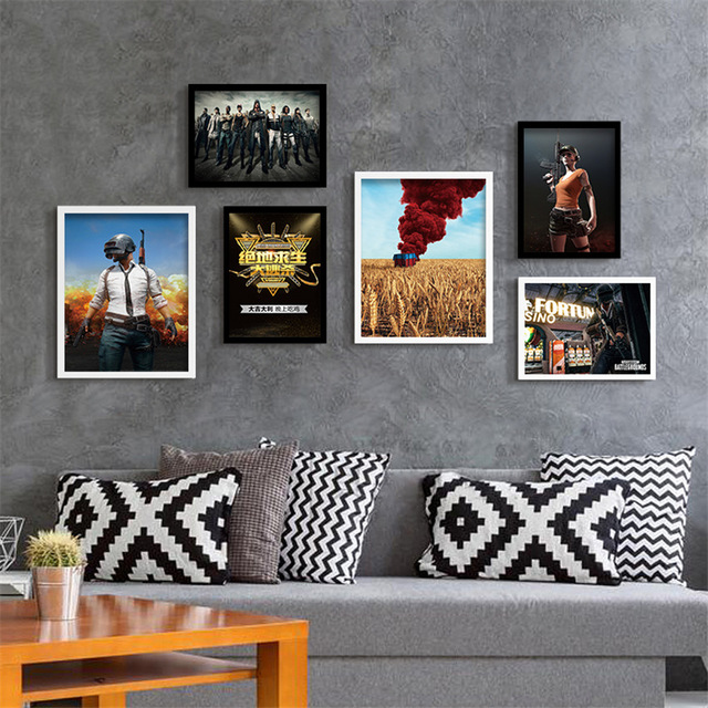PUBG Firearms Roles Painting Quality Home Decor Art Room Living Posters Wall Canvas No Frame E167