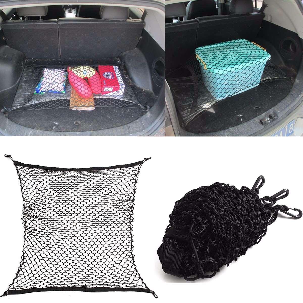 100x100cm Universal Car Seat Back Storage Mesh Net Rear Cargo Trunk Storage Organizer Luggage Swing Mesh Nets Holder