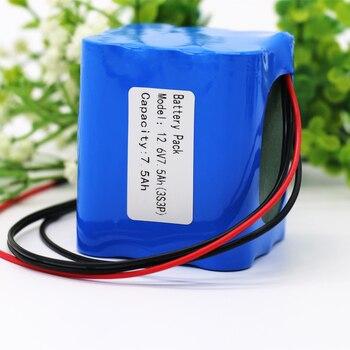 KLUOSI 12V Battery 3S3P 11.1V /12.6V 7500mAh 18650 Lithium-ion Battery Pack with 5A BMS for LED Lamp Light Backup Powe Etc