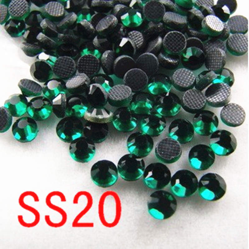 SS20 Emerald 100 gross Crystal DMC Hot Fix Rhinestones Glass Strass Hotfix Stones For Clothing DIY