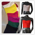 2014 Wholesale Factory Low Price HL Bandage Tops crop tops Strapless Sexy Vests High Quality WHITE Red,Beige,Light Blue