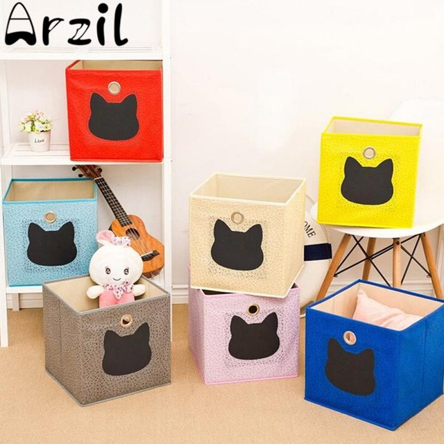 Collapsible Non Woven Kids Toys Storage Boxes Childrens Toys Storage Box Bin  Home Playroom Storage Organizer