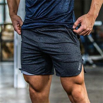 Lato nowy mężczyźni fitness spodenki moda casual Siłownie Kulturystyka trening mężczyzna cielę długości krótkie spodnie marki Dresy Sportswear tanie i dobre opinie Szorty Elastyczna talia Graniczy Regularne Niskie YF-0720 Długość kolana Szczupła Poliester spandex bawełna GLOBESKY