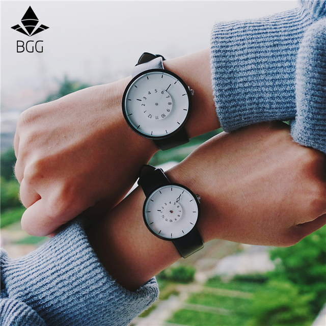 Turntable Second Hand Unique Design Watch BGG New Arrival Fashion Creative Men W