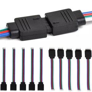 4-контактный разъем RGB 5-контактный коннектор RGBW Папа + Женская Светодиодная лента игольчатый соединитель сварочный кабель для 5050 3528 RGB RGBW Светодиодная лента
