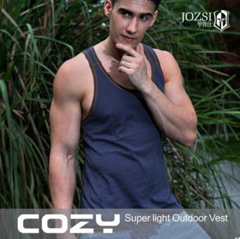 Men's Summer Outdoor Sports Round Neck Light Breathable Fast Quick-drying Vest O Collar Tack Tops Loose O Neck Sleeveles Shirts