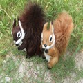 19cm Leather Handmade Ornaments Props Simulation Large Squirrel 1 Piece