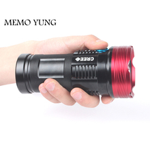 20000 lumens powerful  flashlights  SKYRAY King 10T6 LED torch 10x  CREE XM-L T6 LED Flashlights Torch for 18650 battery