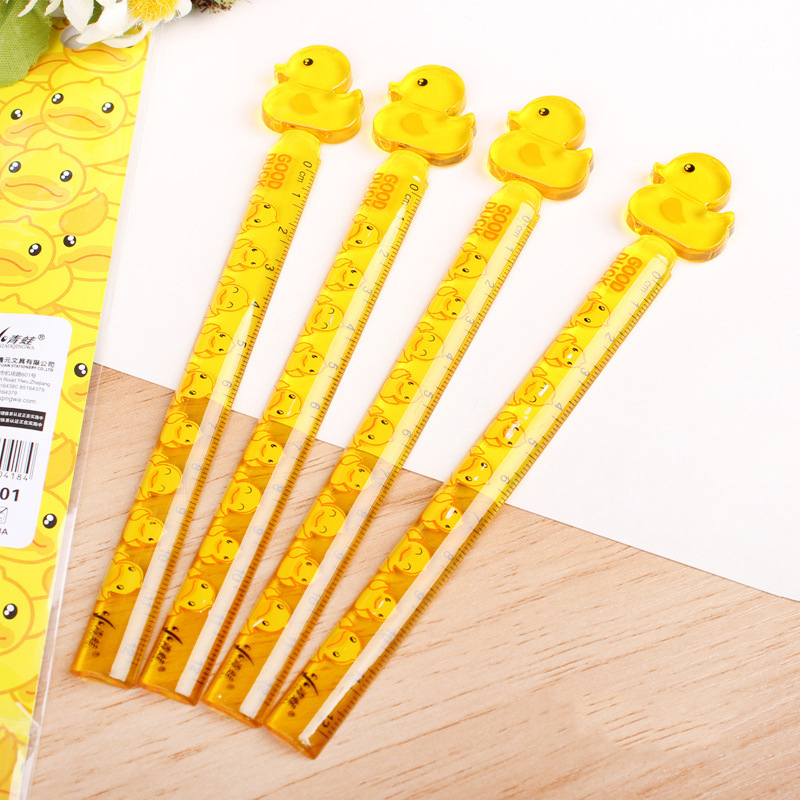 1 PCS New Creative Kawaii Cute Student Drawing Ruler Straight Ruler Study Measure Stationery School Office Supply Promotion Gift