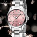 Швейцарские часы Мода марка мэддокс Марка relogio Роскошные Женщины Повседневная часы водонепроницаемые часы женщины моды Платье Горный Хрусталь часы