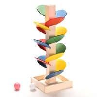 Albero colorato Palla di Marmo Pista di Blocchi di Costruzione Per Bambini In Legno Giocattoli Per Bambini di Apprendimento Educativi FAI DA TE In Legno Giocattoli Regali