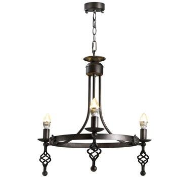 Lámpara Retro de hierro lámpara colgante luces estilo Loft lámpara Industrial Vintage 3 cabezas comedor restaurante LED lámpara colgante