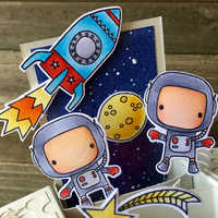 Astronaut In Space Transparent Clear Silicone Stamp Set for DIY Scrapbooking/Photo Album Cards Making Decorative Clear Stamp 4x6