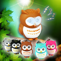 A Lot LED Flahlight Keychains With Sound and Emit Light Cute Owl Keychain Car Keychain Ring Action Figures Keyring Best Price