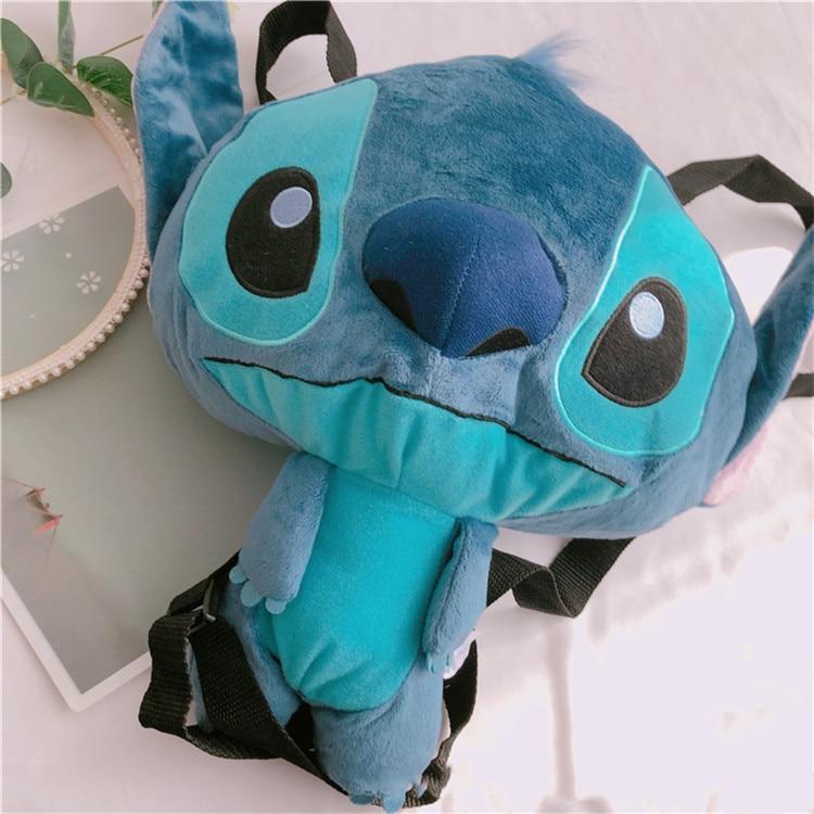 33cm Lilo and  Stitch cartoon Plush Backpack Kawaii Stitch Stuffed Bag Shoulder Coin Purse for Girls