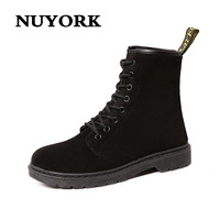 NUYORK Fashion Winter Autumn Woman Shoes Leather Ankle Boots S For GIRL Studded High Heel Boots