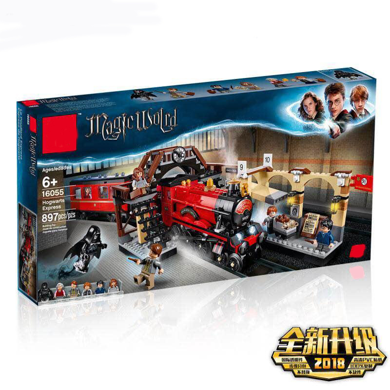 New Magic Harry Potter Hogwarts Express Train Compatible with legoingly Harry Potter 75955 Building Blocks Bricks Christmas Toys