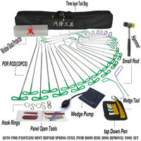 Heavy Knight PDR Hook Tools Push Rod Black Car Crowbar Pump Wedge Paintless Dent Repair Tools PDR Kits Ding Hail Puller Set