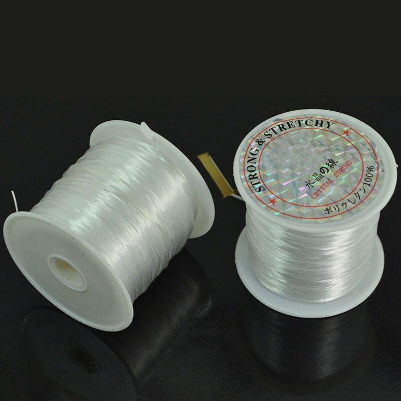 20 до 90 м 0,25-0,7 мм 1 рулон белый неэластичен провод браслет кристалл Бисер шнур Строка темы доступа