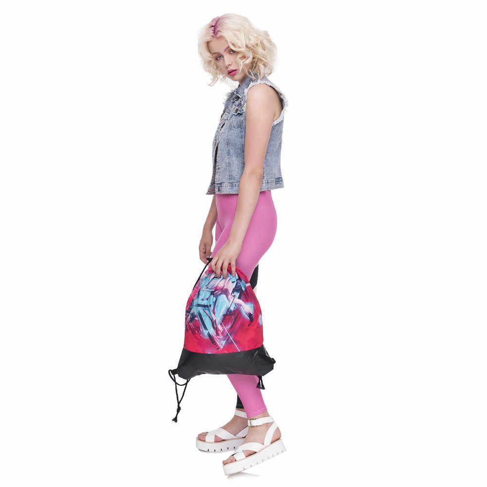 Rosa branco guindaste de couro inferior mochila amantes das mulheres dos homens 2018 viagem doce estilo da marca moda mochila feminina cordão saco