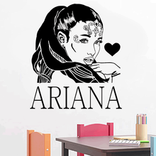 Poster R&B singer star Ariane Grande wall decals home decor art vinyl sticker 2YY47