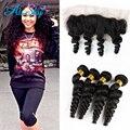 4 Bundles with Frontal Closure Loose Wave Brazilian Hair Extensions Loose Wave Bundles Brazilian Virgin Hair Bundles