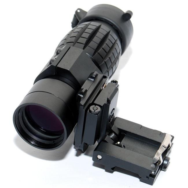 Taktické lovení QD FTS 3X Magnifier Scope Zorné pole s Flip na boční držák pro 20mm