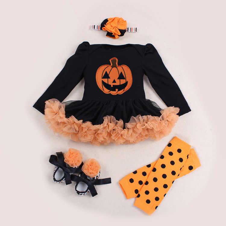 87852649b71a Hot sale Halloween Baby Costume Baby Girls Boys Rompers Newborn Halloween  Pumpkin Jumpsuits Dress Cartoon Printed
