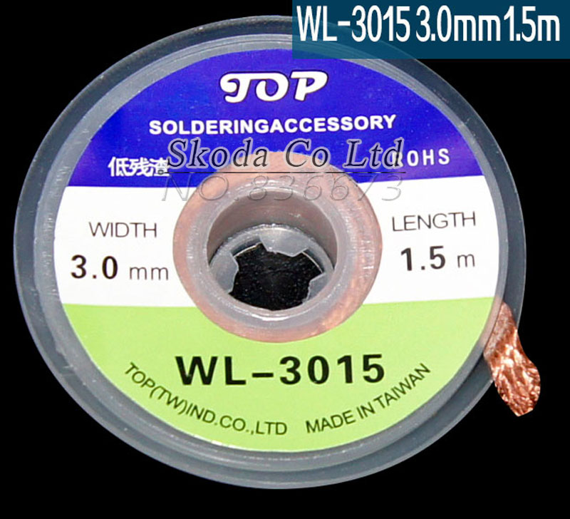 5 pcs/lot The Best BGA Desoldering Braid Solder Wire WL-3015 wick/Soldering Accessory