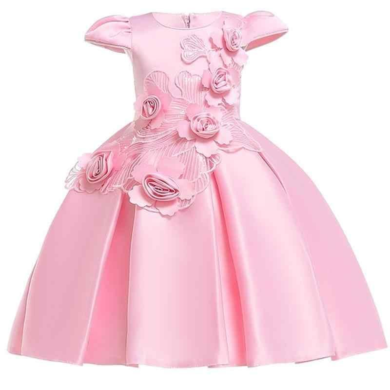 5656fb81ad 2019 korowód formalna dzieci sukienki dla dziewczynek Tutu Princess Dress  lato dziewczyny Birthday Party i suknia