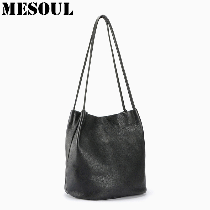 2017 Bucket Bags Genuine Leather Shoulder Bag Women Fashion Tote High Qulity Spring Summer New Soft Cow Leather Woman Handbags топ quelle venca 709304